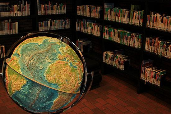 Globus i bibliotek